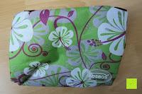 ausgepackt: Aosbos Wasserdichte Lunch Tasche Isolierte Thermo Picknicktasche für Lebensmitteltransport(Grün Blumen)