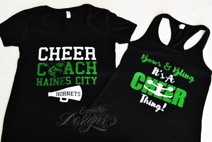 Eccentric designs by latisha horton custom cheerleader Cheerleading t shirt designs