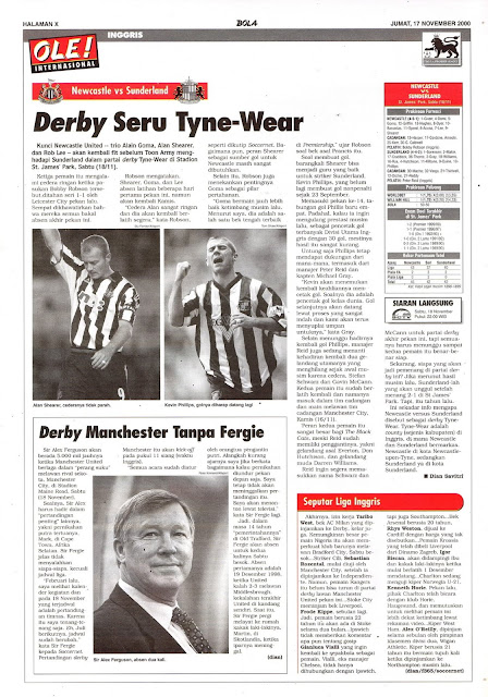NEWCASTLE VS SUNDERLAND DERBY SERU TYNE-WEAR