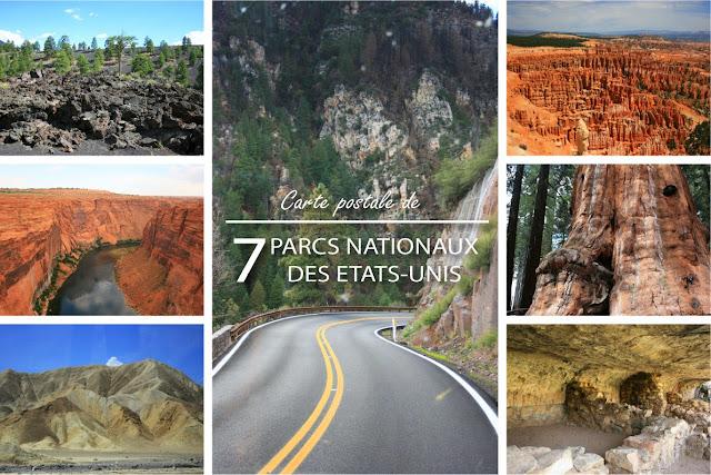M-ii Photo : Carte postale de 7 Parcs Nationaux des Etats-Unis