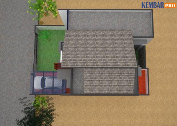 Rumah Minimalis-Gambar Tampak Atas (Atap) Type 150