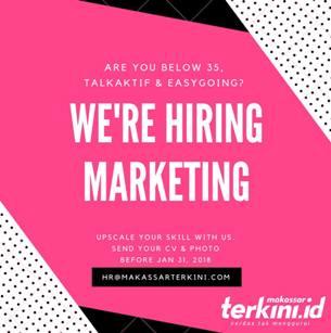Lowongan Kerja Marketing di Makassar Terkini