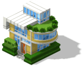 res small modern house with monorail hedge SW - Material CityVille: Novo sistema de monotrilho