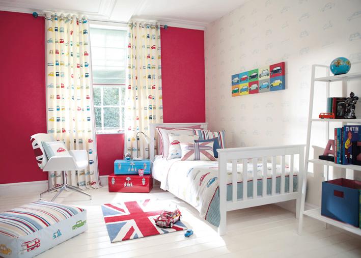 styl brytyjski w pokoju dziecka