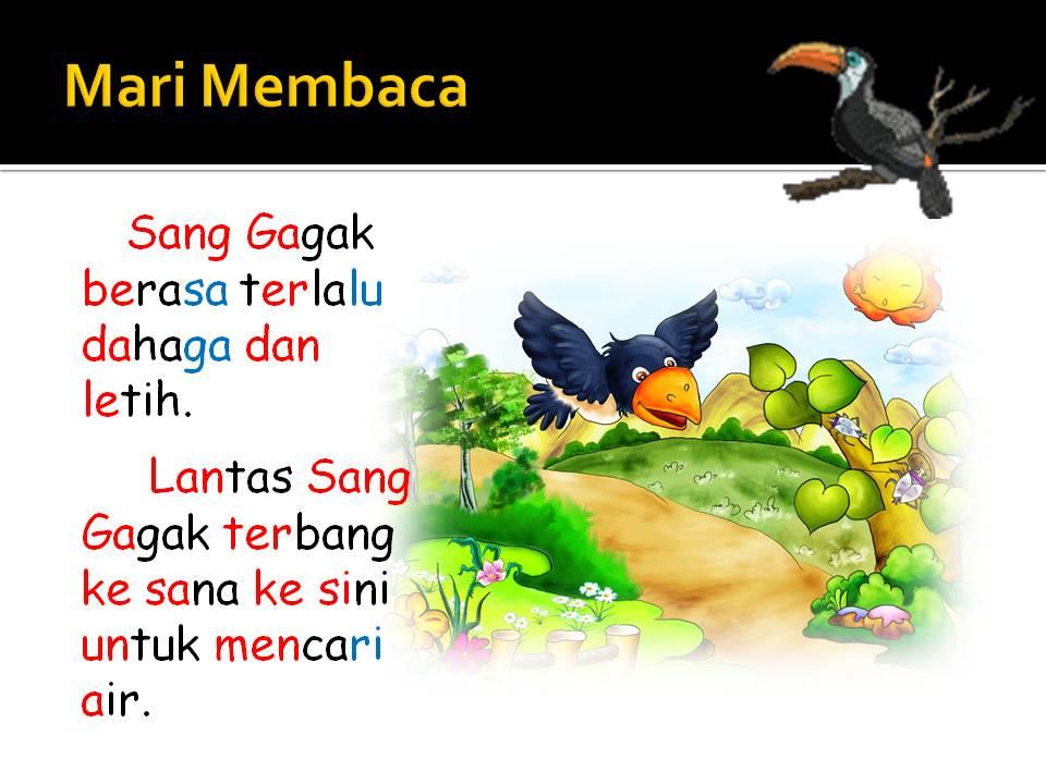 Bahasa Malaysia Tahap Satu Burung Gagak Yang Bijak
