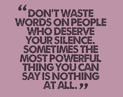 Don't waste words on people quote