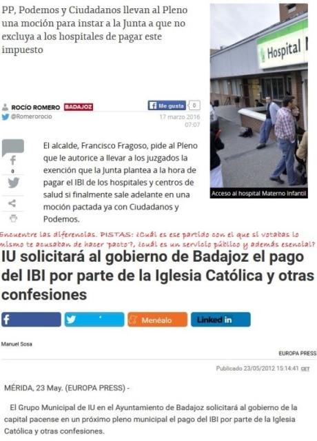 ¿Se pide más justicia fiscal ahora en Badajoz que hace 4 años?