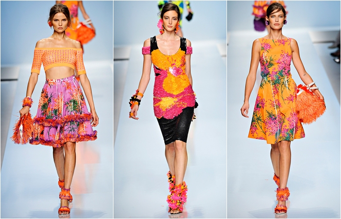 Blumarine spring 2012 colorful flower prints