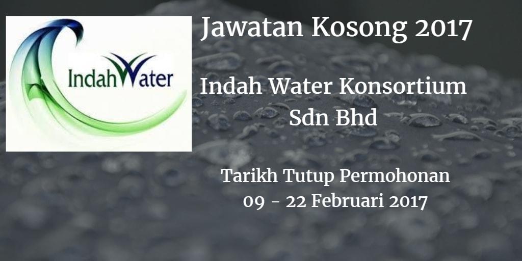 Jawatan Kosong Indah Water Konsortium Sdn Bhd 09 - 22 Februari 2017