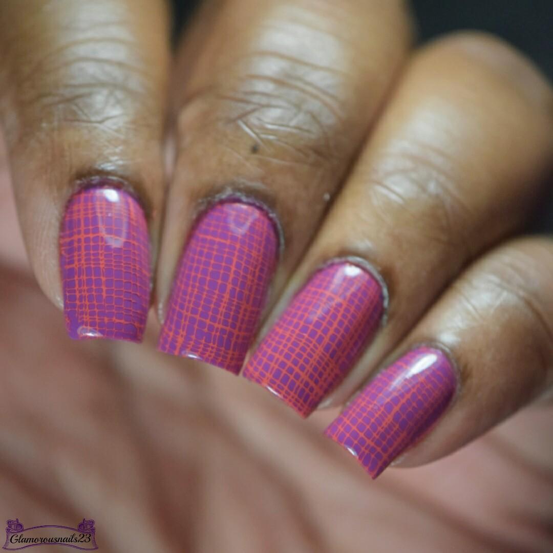 Mesh Stamping Nail Art + Tutorial - Glamorousnails23
