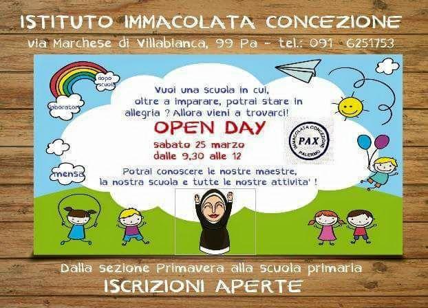 Open day all'istituto Immacolata Concezione a Palermo