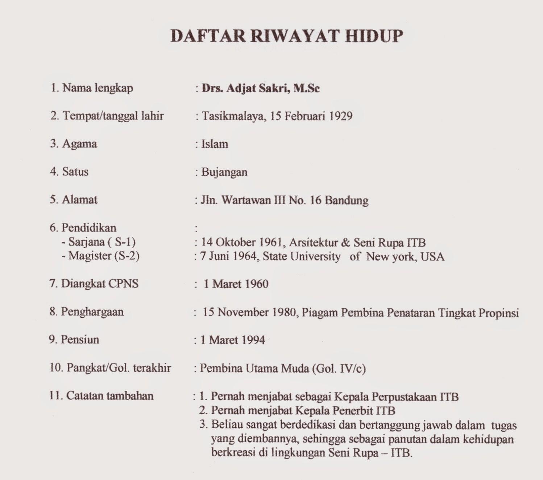 Contoh Daftar Riwayat Hidup LAMARAN KERJA DLL