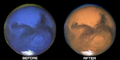 There is some disagreement about whether or not Mars had, and still has, actual water. There is quite a bit of evidence, which also raises many questions.