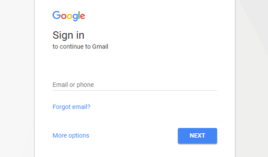 Sign in to Gmail Account