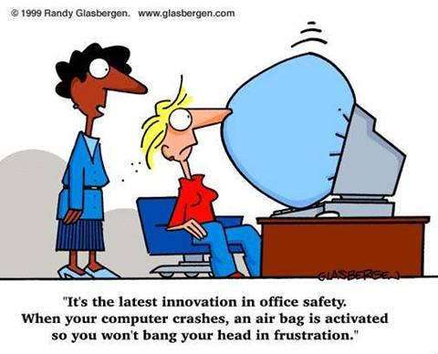 Funny comic strip computers
