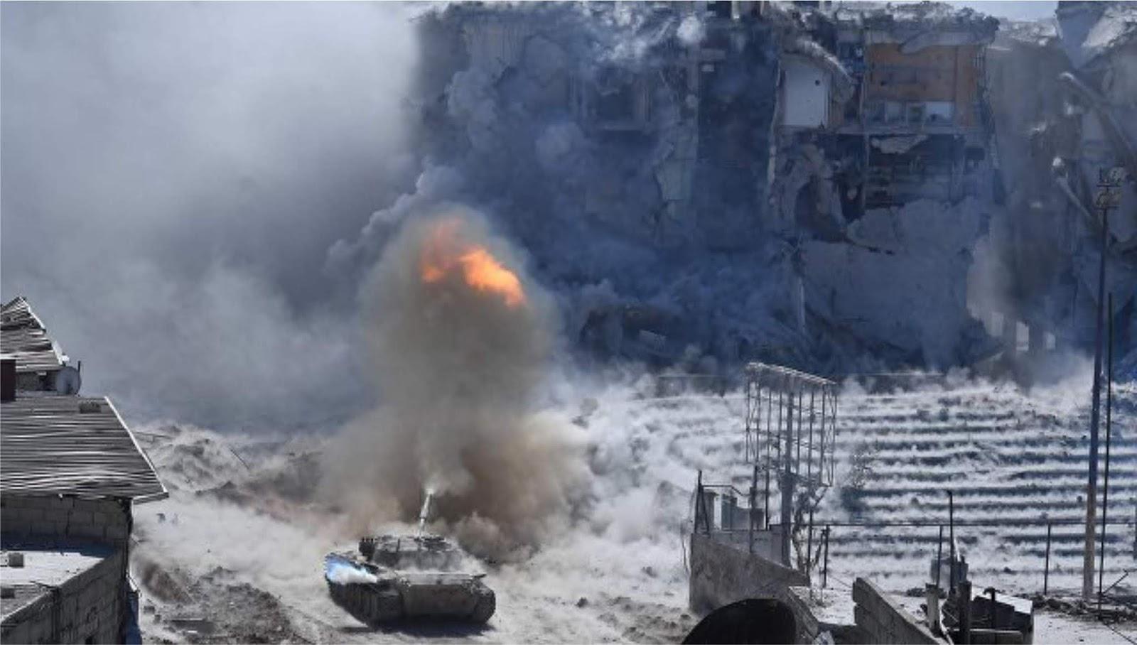 Kementerian Pertahanan Rusia menerbitkan video serangan udara terhadap teroris di Idlib