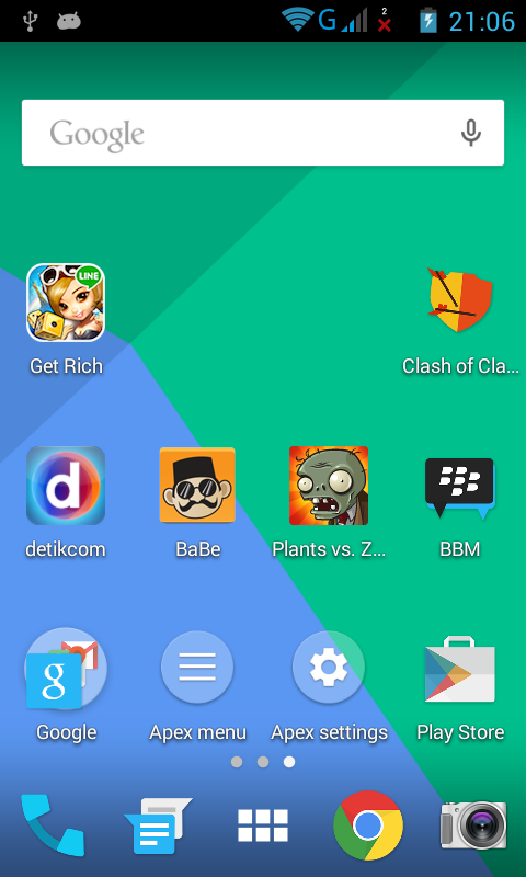 Moonshine Icon Pack on Apex Launcher