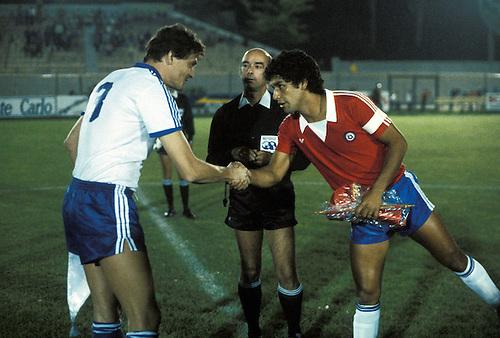 Chile y Finlandia en partido amistoso, 8 de febrero de 1985