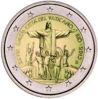 vatikaani 2 euroa kolikko 2013
