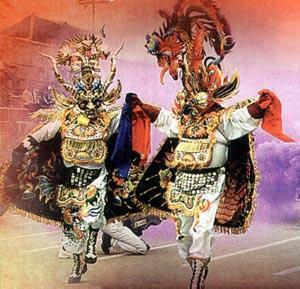 Foto a la presentación de La Diablada