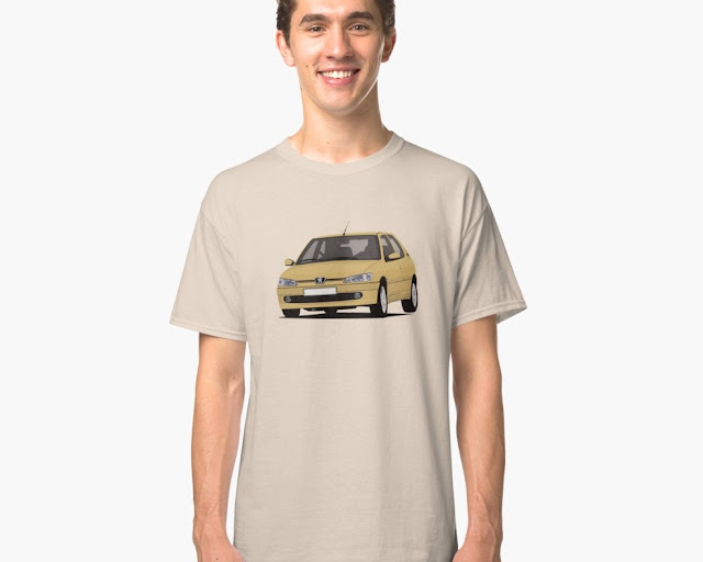 Yellow Peugeot 306 GTi-6 T-shirt