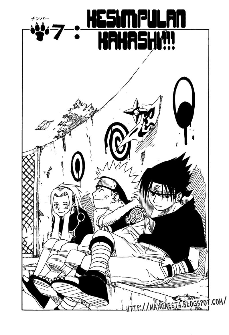 Naruto 007 01 Naruto 007   Kesimpulan Kakashi