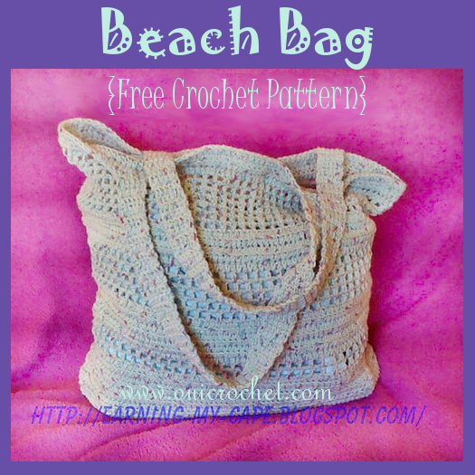 Crochet, Free Crochet Pattern, Crochet Bag, Crochet Market Bag, Crochet Beach Bag,