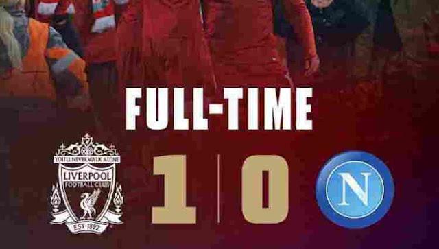 Video Liverpool vs Napoli Cuplikan Gol Skor 1-0