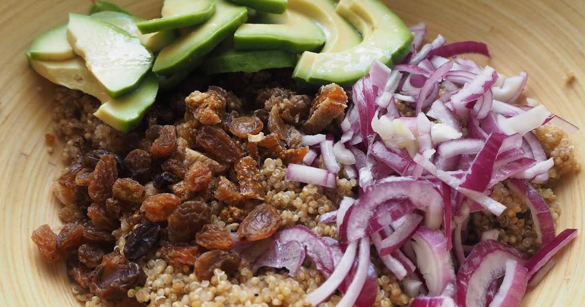 s cotine fait sa maligne salade de quinoa avocat et fruits secs vinaigrette pic e. Black Bedroom Furniture Sets. Home Design Ideas