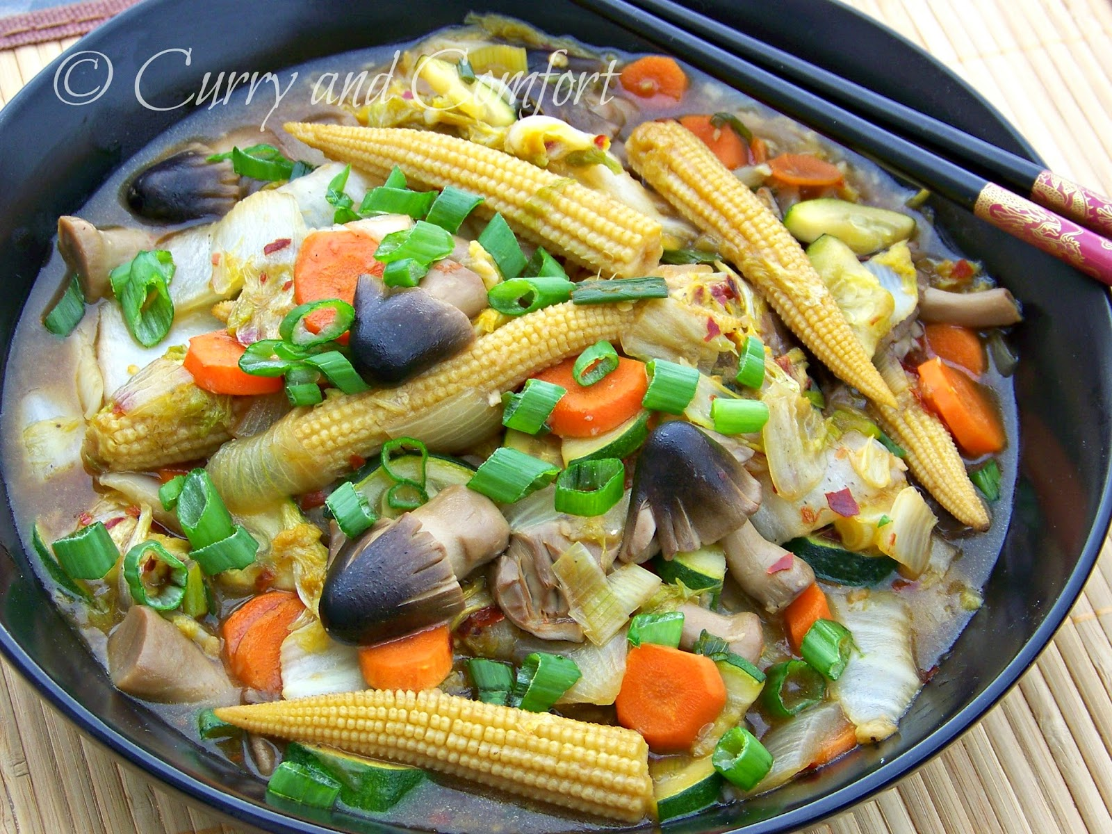 Kitchen Simmer Napa Cabbage Vegetable Stir Fry