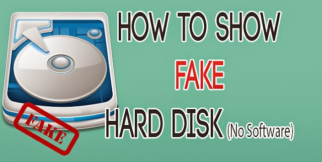 How to Show fake Partition/Hard disk without any software