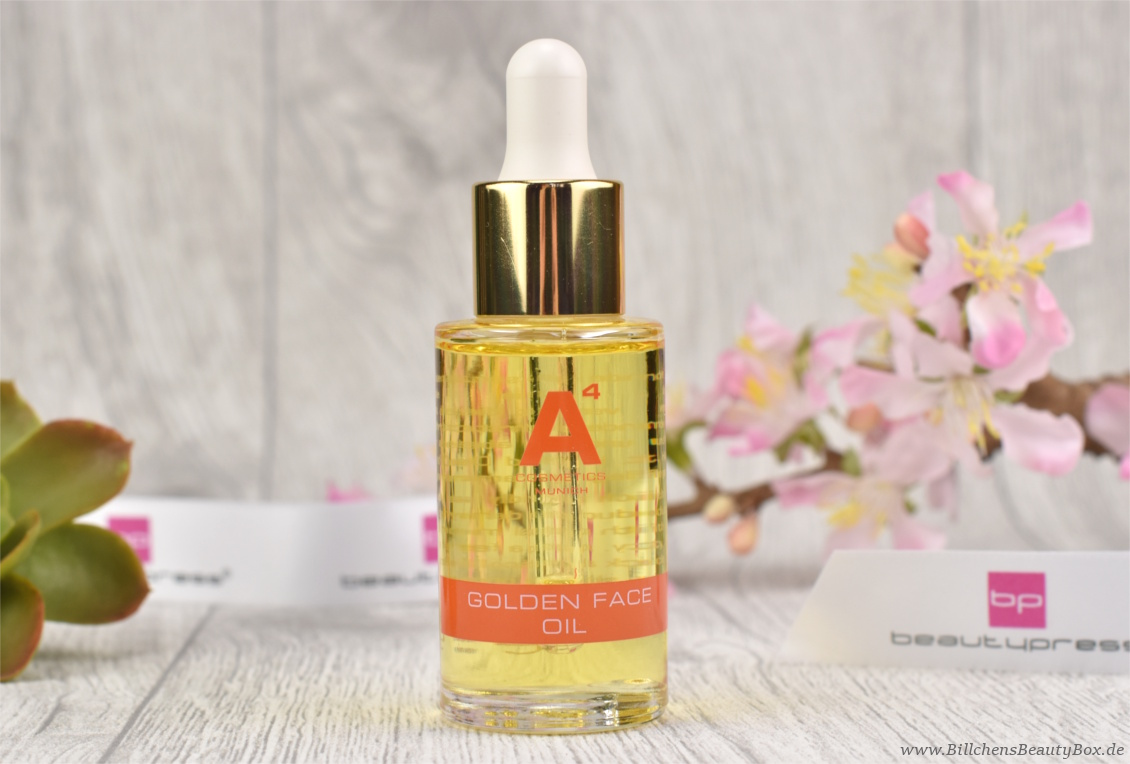 beautypress News Box Februar 2017 - A4 Cosmetics Golden Face Oil