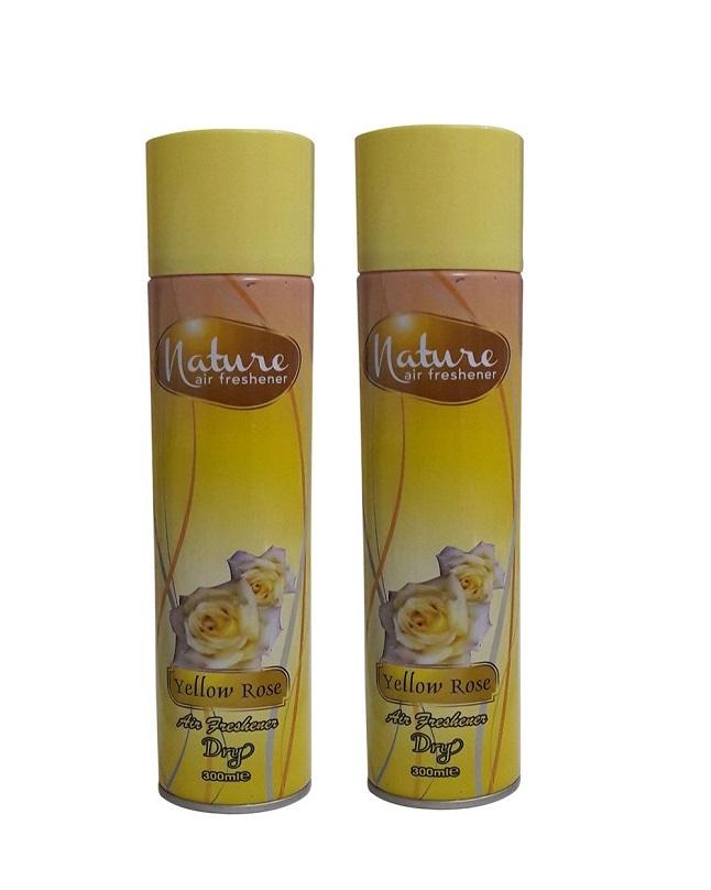 Pack Of 2 - Nature Yellow Rose Air Freshener 300 ml
