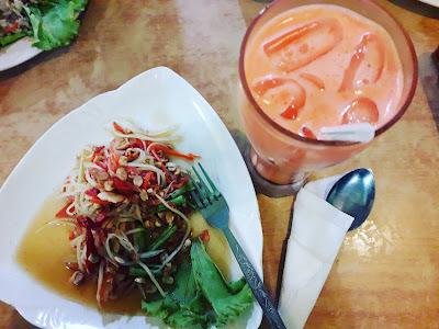 Somtam, carrot susu, makanan Thailand,