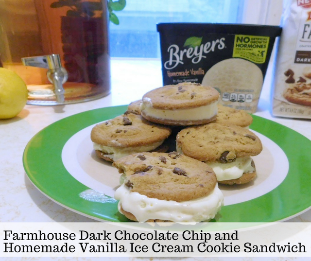 Pepperidge Farm Farmhouse Dark Chocolate Chip Cookie and Breyer's Homemade Vanilla Ice Cream