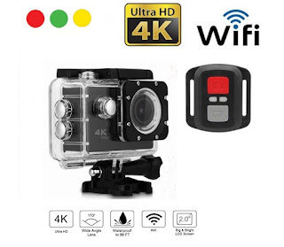action camera 4k wifi hd con telecomando