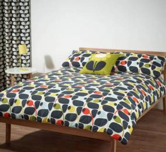 I Love Orla Kiely New Olive Amp Orange Bedding And Curtains