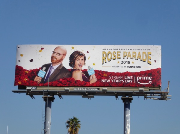 Rose Parade 2018 billboard