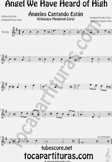Partitura de para Violín Villancico Christmas Carol Sheet Music for Violin Music Scores Music Scores