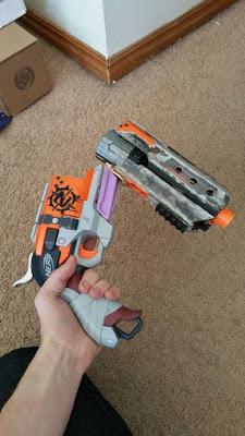 Súng đồ chơi Nerf Hammershot độ chế súng cao bồi 2