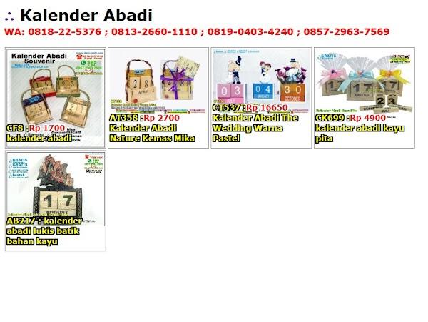 Daftar Harga Kalender Abadi