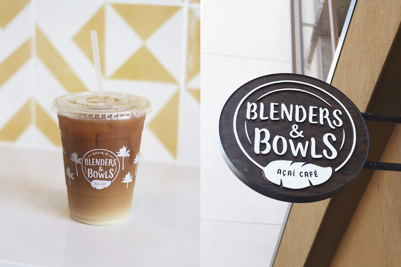 Blenders and Bowls Austin, Iced Coffee, Cozy Coffee Shop, Coffee Shops Vibe