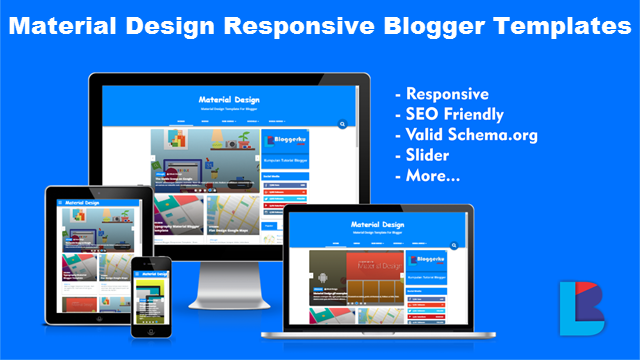 4. Responsive Material Design Blogger Templates