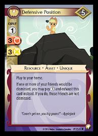 My Little Pony Defensive Position Equestrian Odysseys CCG Card