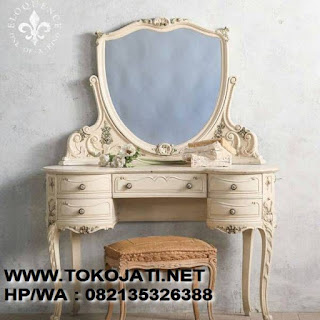 MEJA RIAS UKIR JATI CAT DUCO,FURNITURE INTERIOR KLASIK86