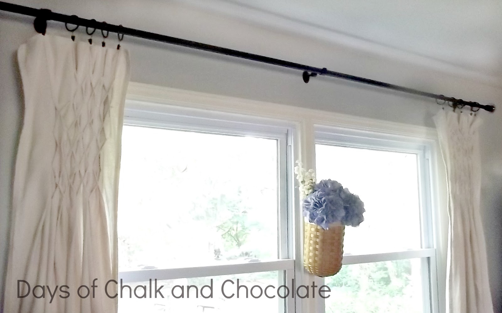 Smocked Drop Cloth Curtains | Days of Chalk and Chocolate