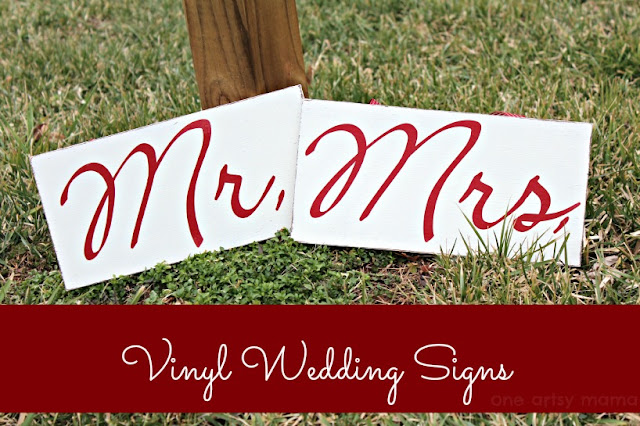 wedding signs, Mr. and Mrs. signs, wooden signs, vinyl signs, Silhouette