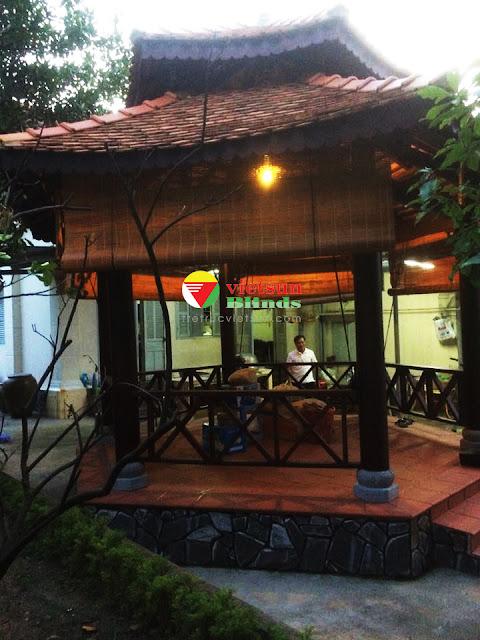 Mành tre trang trí cho không gian nhà hàng, cafe, khu du lịch nghỉ dưỡng