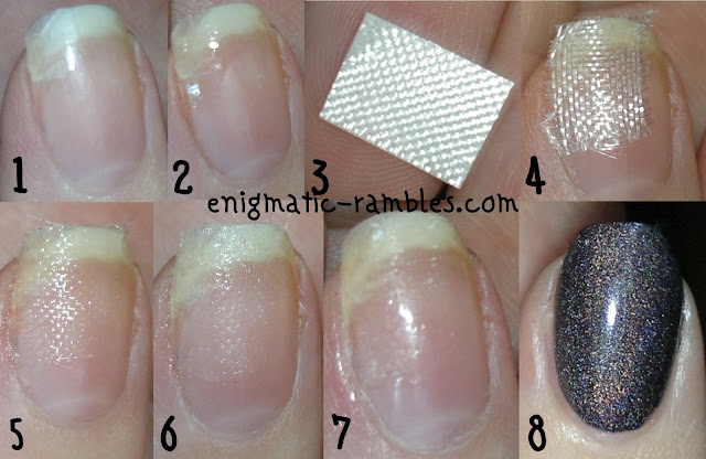 fixing-a-broken-nail-using-fibreglass-tutorial-how-to