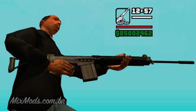 gta sa mod arma brasileira fn fal 762